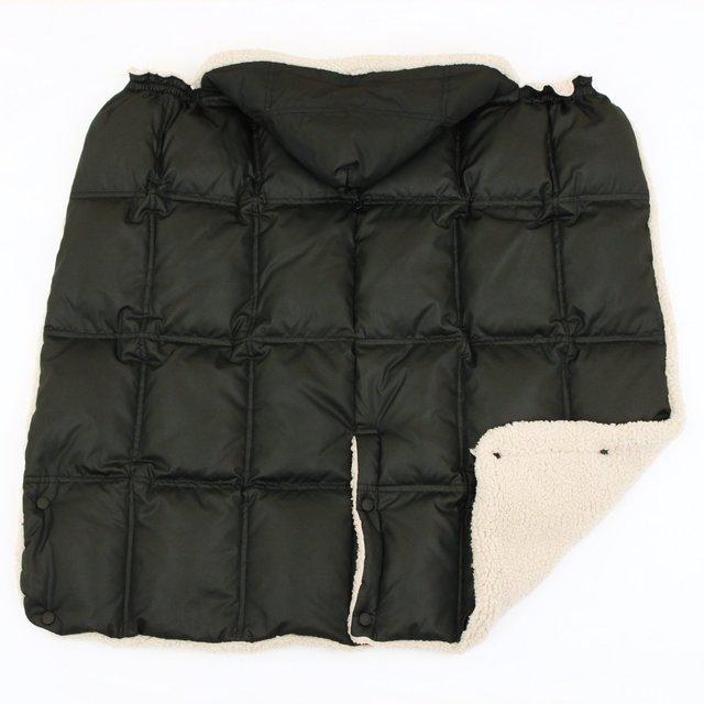 ダウン素材の4wayケープ ,赤ちゃん,防寒着,おすすめ