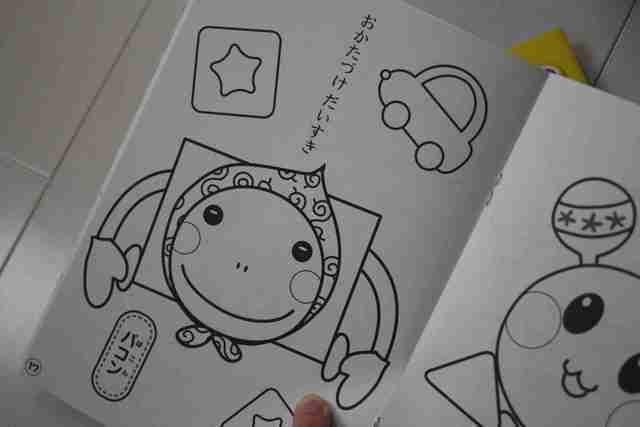 ぬりえNHKキャラクター,セリア,商品,便利