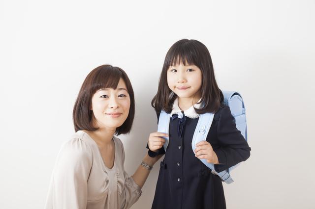 小学生ママランドセル女の子,ママ,入学式,服装