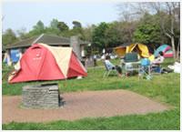 江東区立若洲公園のキャンプ風景,若洲公園,キャンプ,サイクリング