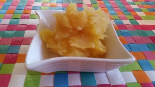 さつまいもとリンゴの芋きんとん完成,さつまいも,おやつ,簡単レシピ