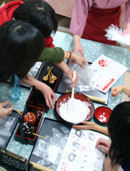 おたべ本館の手作り体験,京都,おたべ,手作り体験
