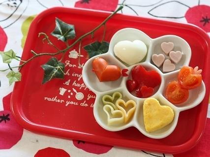 ハートのおかずたち,バレンタイン,お弁当,レシピ
