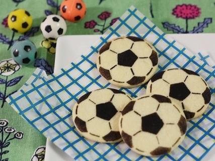 サッカーボールのクッキー,バレンタイン,サッカー,レシピ