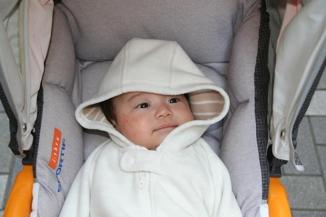 おでかけする赤ちゃん,新生児 ,外出 ,時期