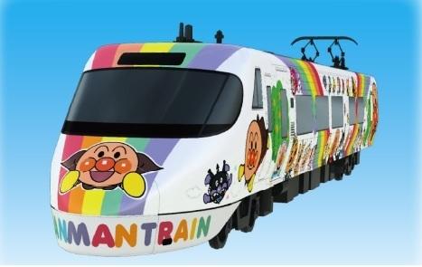 アンパンマン列車外観,アンパンマン,列車,子ども