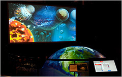 半球スクリーン,地球情報館,横浜,海洋研究開発機構