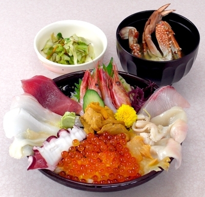 ゆっくら亭の特上海鮮丼,大洗,温泉,ゆっくら健康館