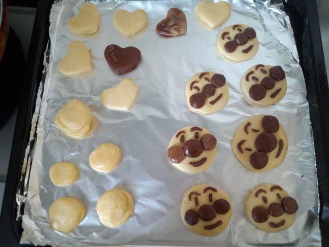 アンパンマンクッキー,簡単,手作り,おやつ