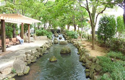 休憩ベンチ,江戸川区,小松川境川親水公園,おすすめ