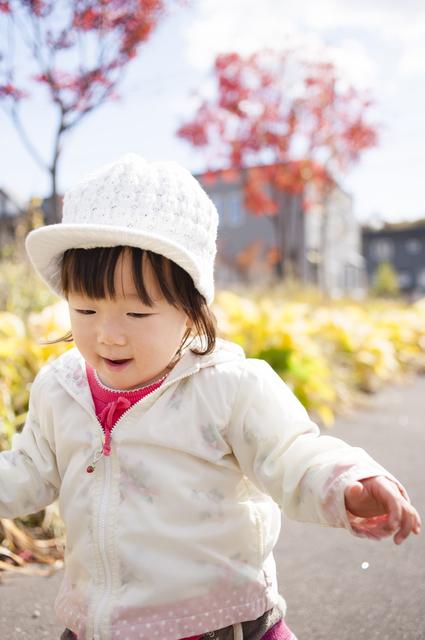 散歩する女の子,道の駅八王子滝山,地元,野菜