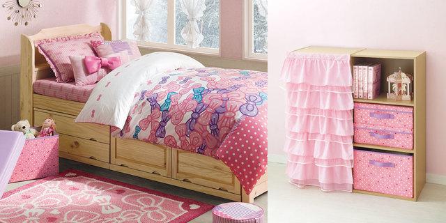 女の子部屋,子ども部屋,収納棚,ニトリ