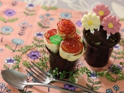 マーガレットと薔薇スイーツ,スイーツ,可愛い,作り方