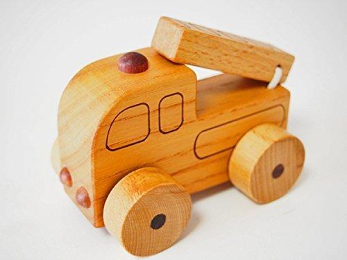 木製消防車,木,おもちゃ,おすすめ