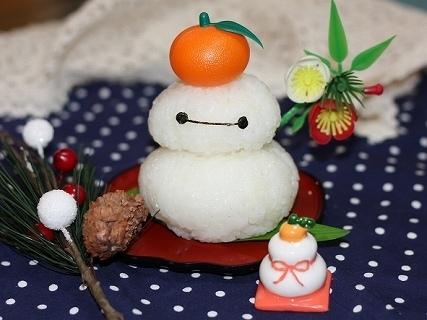 ベイマックスの鏡餅,お正月,キャラ弁,鏡餅