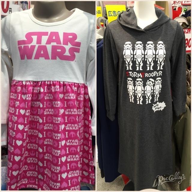 しまむらスターウォーズコラボ商品子ども服(女の子),しまむら,スターウォーズ,コラボ商品