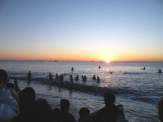 御幸の浜海岸,神奈川,初日の出,海岸