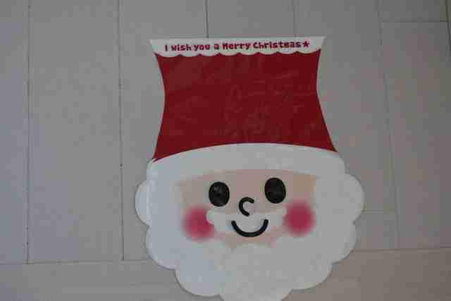 ダイソーのラッピング サンタ,ダイソー,クリスマス,雑貨