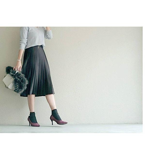 プリーツスカートの写真,ZARA,トレンド,コーデ
