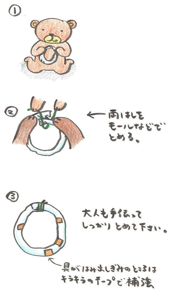 クリスマスリースの作り方その2,手作り,遊び,クリスマスリース