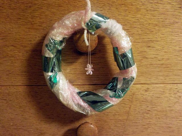 手作りクリスマスリース,手作り,遊び,クリスマスリース