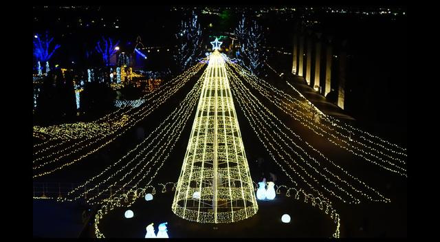 光のツリー,徳島,イルミネーション,あすたむらんど