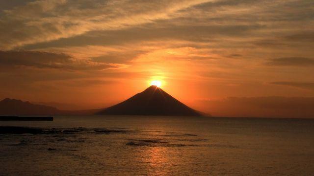 開聞岳 初日の出,鹿児島,初日の出,スポット