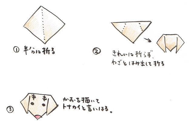 折り紙 トナカイ,折り紙,クリスマス,飾り
