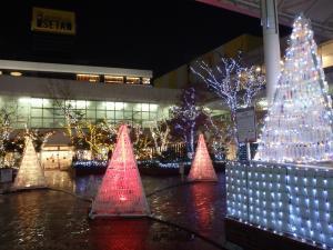 万代シティ,新潟,イルミネーション,雪