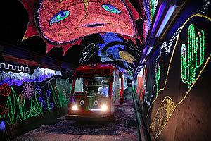 とことこトレイン きらら夢トンネル,山口,イルミネーション,子ども