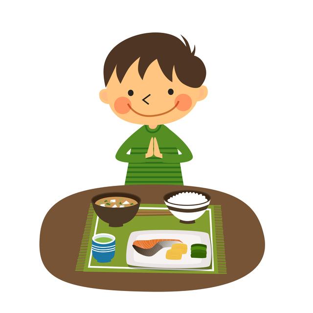 ご飯を食べる男の子,幼稚園,入園,準備