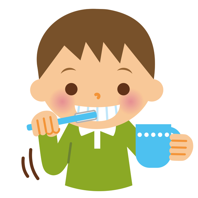 歯磨きする男の子,幼稚園,入園,準備