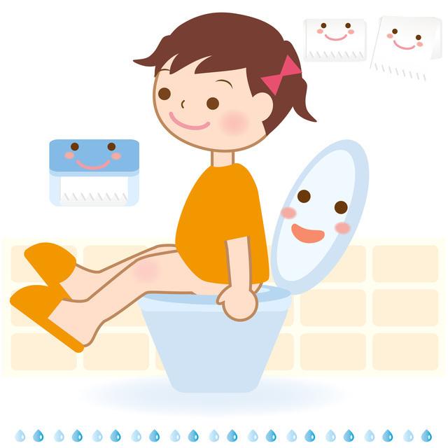 トイレに座る女の子,幼稚園,入園,準備