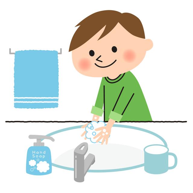 手洗いする男の子,幼稚園,入園,準備