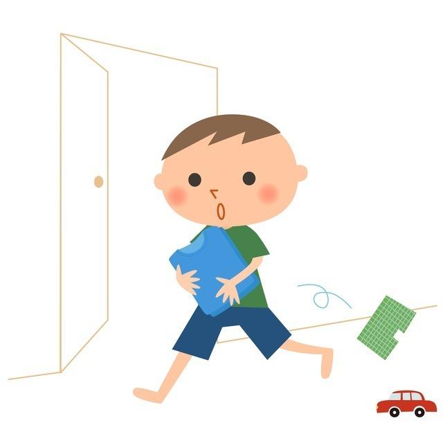 片づける男の子,幼稚園,入園,準備