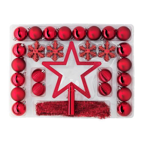 デコレーション56点セット、 レッド,IKEA,クリスマス,インテリア