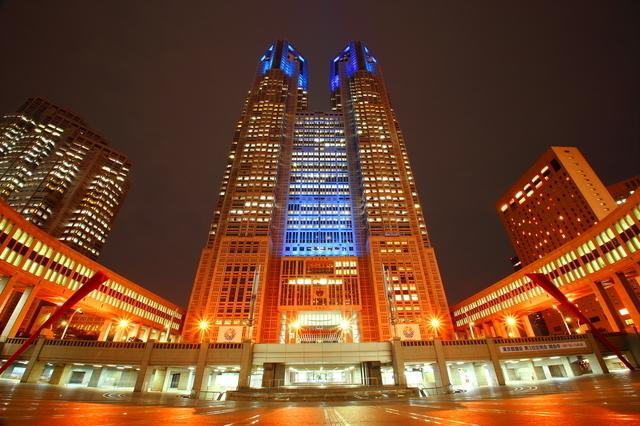 都庁,夜景,100選,東京