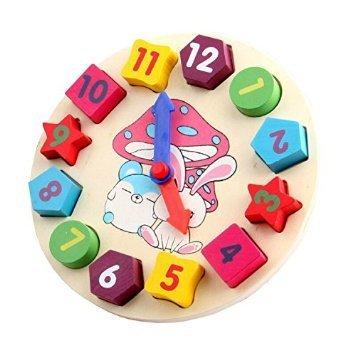木のおもちゃ 数字時計,幼児,知育玩具,おもちゃ