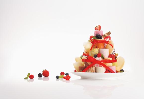 irina ロールタワー,誕生日,ケーキ,オンライン