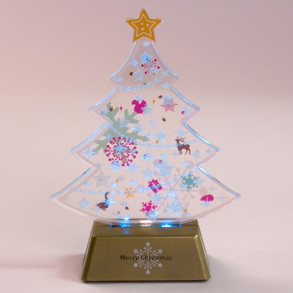 LEDアクリルツリー,クリスマス,インテリア,ニトリ