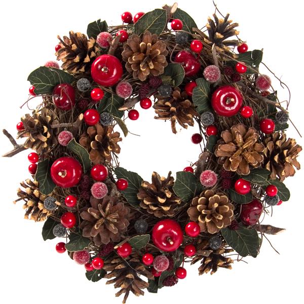 ナチュラルリースナンテン30,クリスマス,インテリア,ニトリ