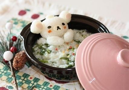 湯ったりコリラックマの雑炊,リラックマ,キャラ弁,簡単