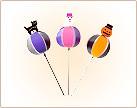 ハロウィンバブルボール風車,ハロウィン,100円ショップ,100均