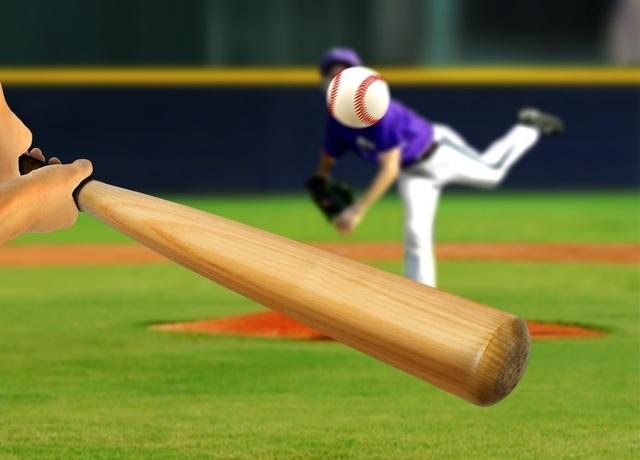 野球のバットとボール,親子,野球,観戦