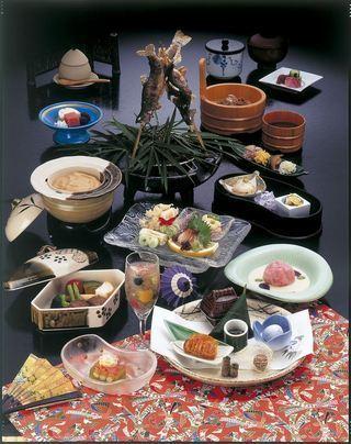 スタンダードプランの料理,甲州西山温泉 慶雲館,三世代,家族旅行