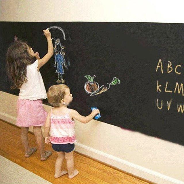 壁に貼ってはがせる黒板(ブラックボード)ウォールステッカー ,お絵かき,黒板,子ども部屋