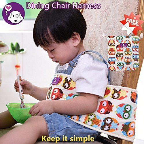 GOMAMA ベビーチェアベルト 椅子用 固定帯 椅子ベルト ベビー用品 持ち運び便利 お子さまの安全を守る しっかりサポートで安心ベビーチェアベルト 6ヶ月から3歳まで  (Style B, OWL),ベビーチェアベルト,