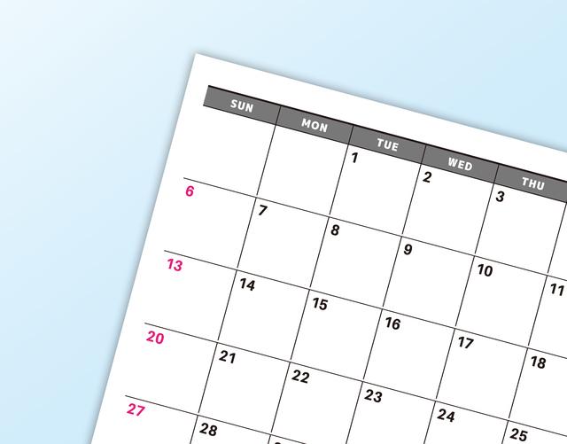 カレンダー,妊娠,0週,
