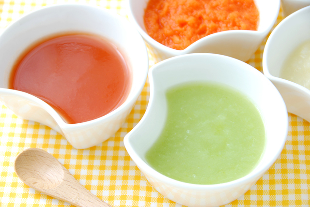 野菜ペースト状離乳食,離乳食,野菜,
