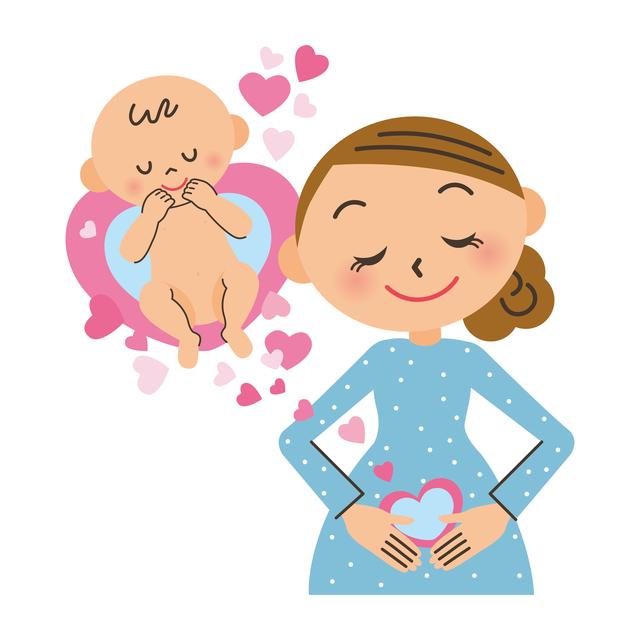 妊娠のイメージイラスト,妊娠,ニキビ,